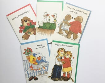 Vintage Suzy's Zoo Unused Greeting Cards Happy Anniversary