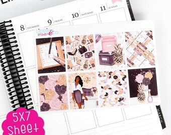 AP A76BDS Girl Boss Dark Skin Decorative Box Life Planner Kit Stickers!!!!  Perfect for the Erin Condren Planner!!!!