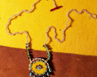 Hand Bead Embroidered Necklace