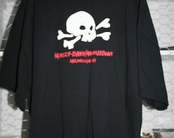 VTG Harley Davidson Museum Milwaukee Wisconsin SKULL T Shirt 5XL