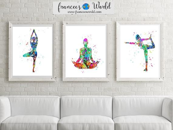 Il_570xn  sc 1 st  Catch My Party & Yoga gift Yoga artwork yoga printable yoga art yoga wall art ...