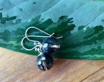 Smoky Quartz earrings,  .925 Sterling Silver Drop Earrings, gifts for her