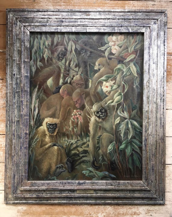Alixe Jean Shearer Armstrong (1894-1983) oil on canvas 'The Jungle' signed 1938 modern British Slade School