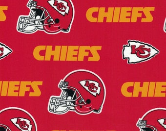 Kansas City Chiefs Fabric- NFL - 100% Cotton High Quality Fabric- by Fabric Traditions