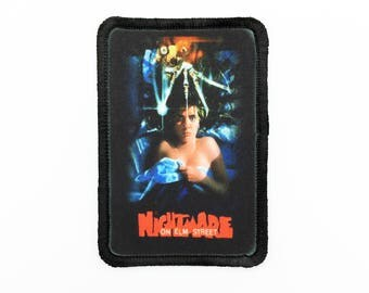 A Nightmare on Elm Street Patch Freddy Krueger Patch Nightmare on Elm St Patch Horror Patch Rectangle Patch ANOES Wes Craven