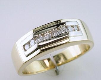 Men's .35ct Diamond 14k Wedding Band Ring