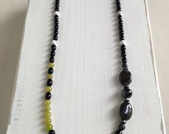 Lizzie's Colors Gemstone Necklace, Statement Necklace, Statement piece