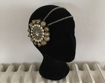 Silver headpiece / tribal fusion headpiece / boho chic / boho headpiece / accessory for the head / mandala headpiece / bohemian /