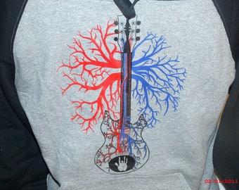 """Warren Haynes/Jerry Garcia sweatshirt """"Patchwork Quilt"""" Hoodie."""