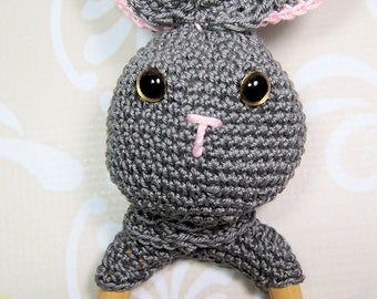 Baby Rattle, Greifring, Bunny, Amigurumi, manual work