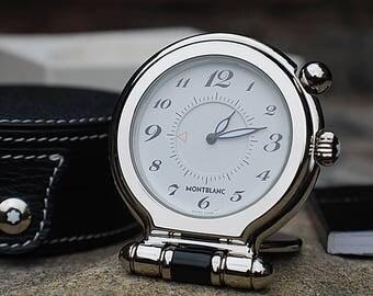 Montblanc Quartz Travel Alarm Clock In Box-Stunning!