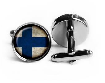 Republic of Finland Finnish Flag Cufflinks