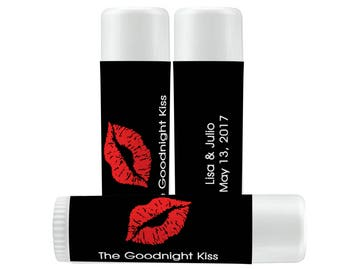 Lip Balm Labels   Personalized Lip Balm Labels - Goodnight Kiss labels  1 Sheet of 12 Lip Balm Labels - Lips Lip Balm Labels