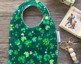 Luck of the Irish / Shamrock / St Patrick's Day / Bandana Bib / Clover Bib / Green / Irish / Lucky / Unisex / Dribble  Bib / Thick Bib