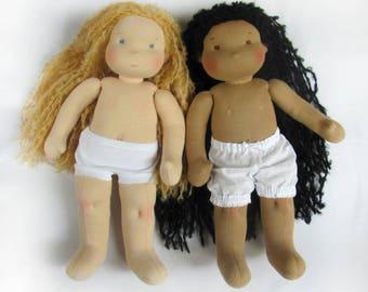 """CUSTOM 14""""(36 cm)Waldorf Doll. Steiner doll - cloth doll - handmade doll - soft doll - waldorfpuppe -rag doll - girls gift - xmas gift"""