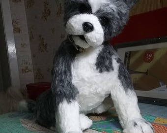 Needle felted custom dog sculpture of youre dog /Needle Felted /Dog Portrait /Custom dog art / Custom portrait of a dog
