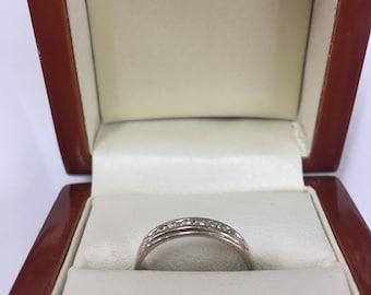 18ct White Gold Diamond Eternity Ring Size M