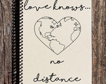 SALE - Love Knows No Distance - Long Distance Relationship - Long Distance Friendship - Across the Miles - Love Across the Miles
