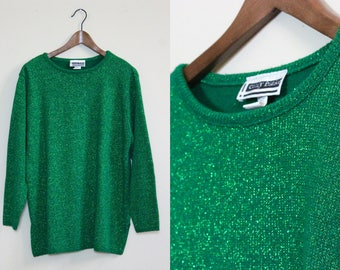 Bright Shimmer Green Sweater
