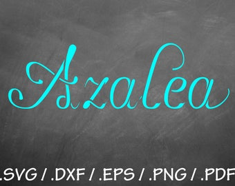 Azalea Font Design Files, Silhouette Studio, Cricut Design, Brother, Scal, DXF Files, SVG Font, EPS Files, Svg Font, Wedding Font Silhouette