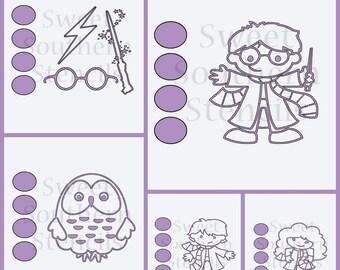 Hogwarts Wizard PYO Cookie Stencils (5 separate stencils)