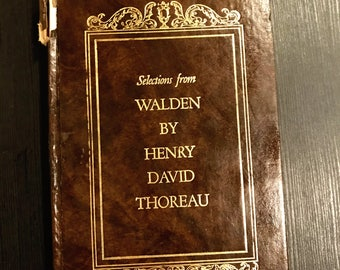 Selections From Walden Henry David Thoreau Hardcover Book