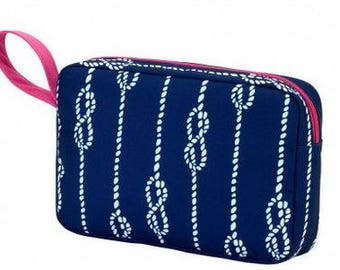 Monogram Navy High Tide Cosmetic Case