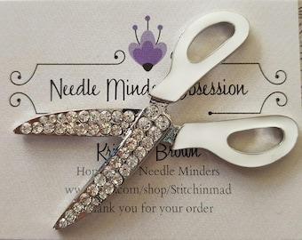 White Scissors Needle Minder