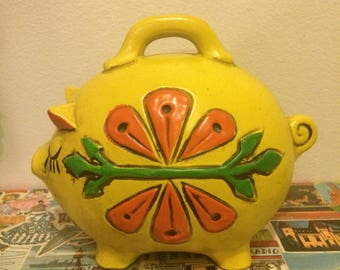 Vintage 1960 Colourful Piggy Bank Made in Japan