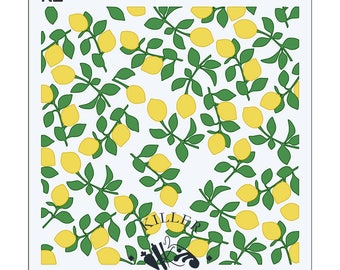 FAST SHIPPING!!! Lemon Branches 2 Part Stencil