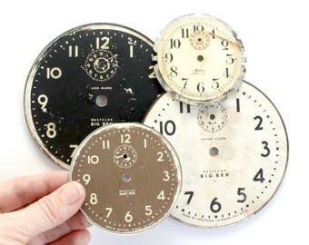 Vintage Clock Faces, Craft Supply