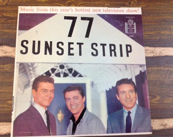 77 Sunset Strip from TV Show Vintage Vinyl Record LP 1959