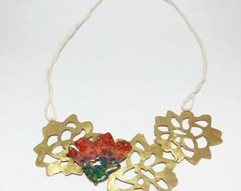Collar Flor de Invierno / Winter flower necklace