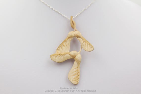 Hand Carved Sycamore Seed...