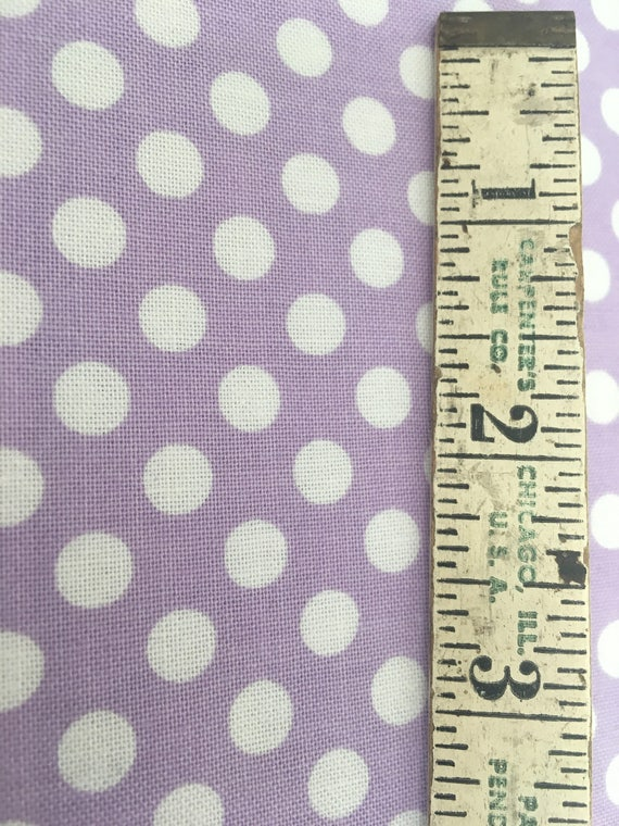 Riley Blake Basics Small Dot Lavender Remnant 1 yard