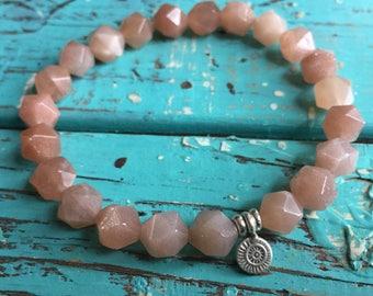 Shine Your Light | Spiritual Junkies | Sunstone Star Nuggets + Sterling Silver Sun | Stackable | Mala | Yoga + Meditation Bracelet