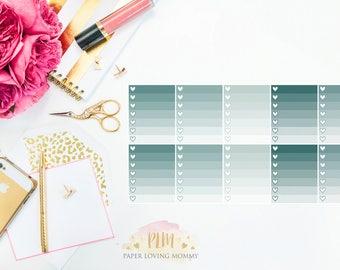 10 January Ombre Checklist Stickers | Planner Stickers designed for use with the Erin Condren Life Planner