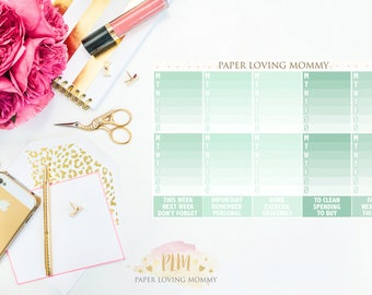 March Sidebar Stickers | Planner Stickers designed for use with the Erin Condren Life Planner