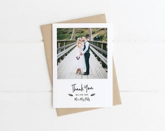 Polaroid Photo Thank You Card, Wedding Thank You, Personalised Wedding Thank You, Custom Thank You, Printable Thank You
