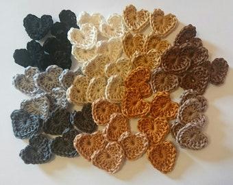 Small Crochet Hearts