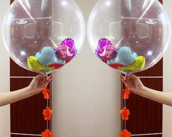 "36"" clear foil balloon, party balloons, party decor"