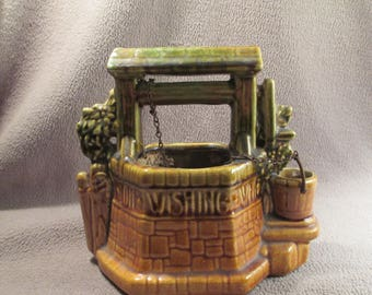 Vintage McCoy Wishing Well Planter