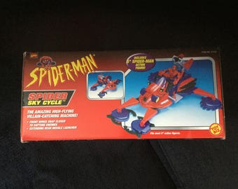 1998 Marvel Comics Spider-Man Action Figure & His Spider Sky Cycle