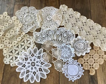 Doilies Lot Doily Crochet Doilies Lace Doilies for Wedding Doilies Doiley Bulk Doilies Lace Doilies Wedding Table Decor White Doilies Ivory