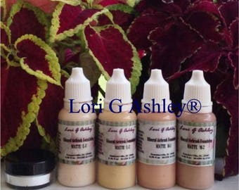 4 Colors Mineral Airbrush Light Shade 1-5 gram Sifter Jar Silicon Dioxide