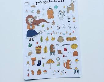 Autumn - Fall MINI Deco Planner Stickers