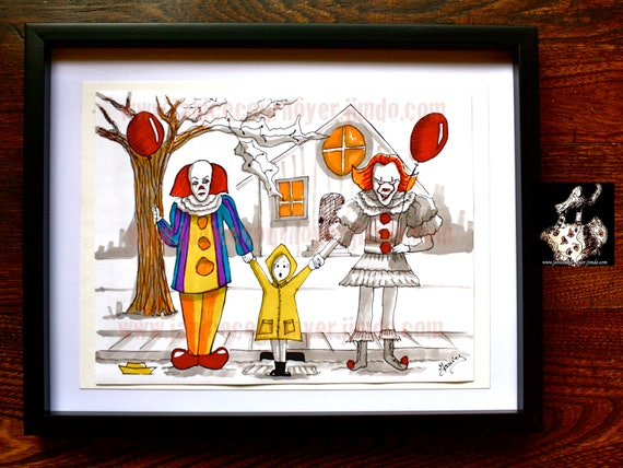 IT Movie CLOWNS Old and New PENNYWISE It movie Coloring page