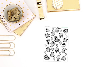 bootiful // Bootiful Ghosts Planner Stickers - Perfect for any planner, calendar, etc!