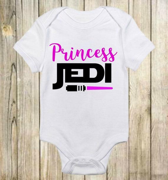 Princess Jedi Star Wars Baby Onesie Baby Girl Onesie