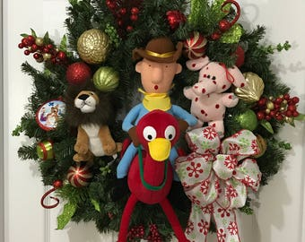 Rudolph the Red-Nosed Reindeer Island of Misfit Toys Holiday/Christmas Wreath